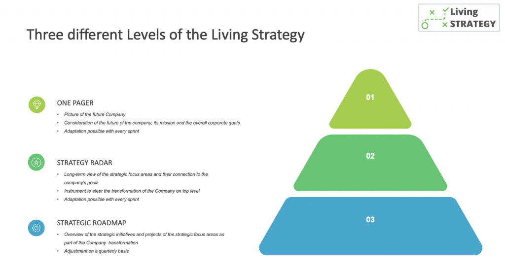 Three levels of the Living Strategy