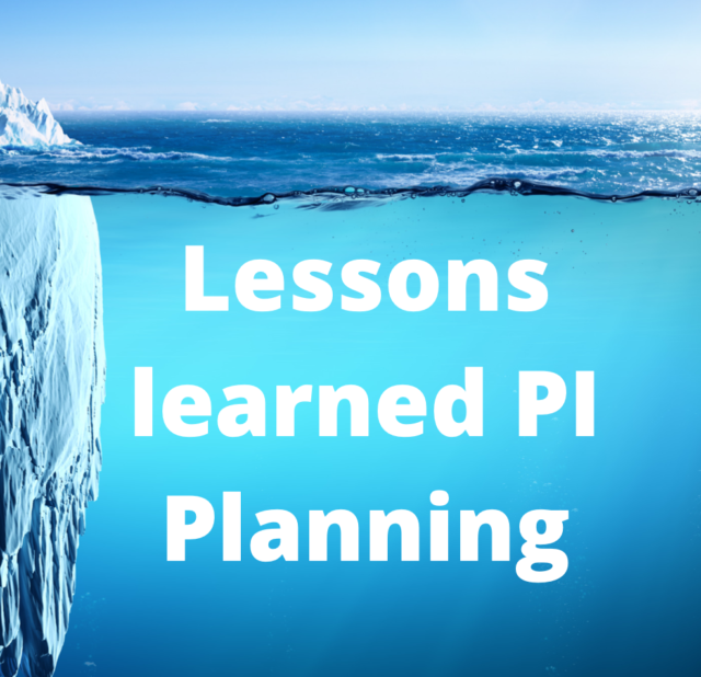Lessons Learned PI Planning - Iteration PlanniNG LOGO